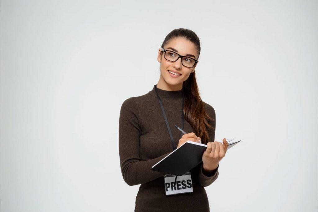 étudiante journaliste